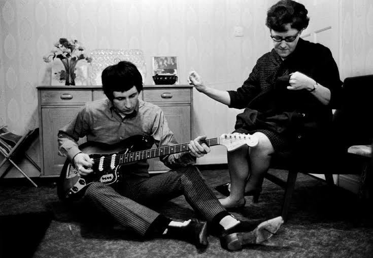 John Entwistle with his mother (Queenie) at his home, west London, 1966 © Colin Jones