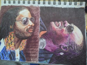 Stevie Wonder Colored pen portraits staedtler 432