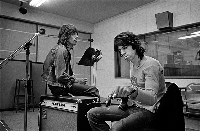 Keith Richards & Mick Jagger 1972 Exile on Main St recording Session, Los Angeles, CA ©Jim Marshall Photography LLC