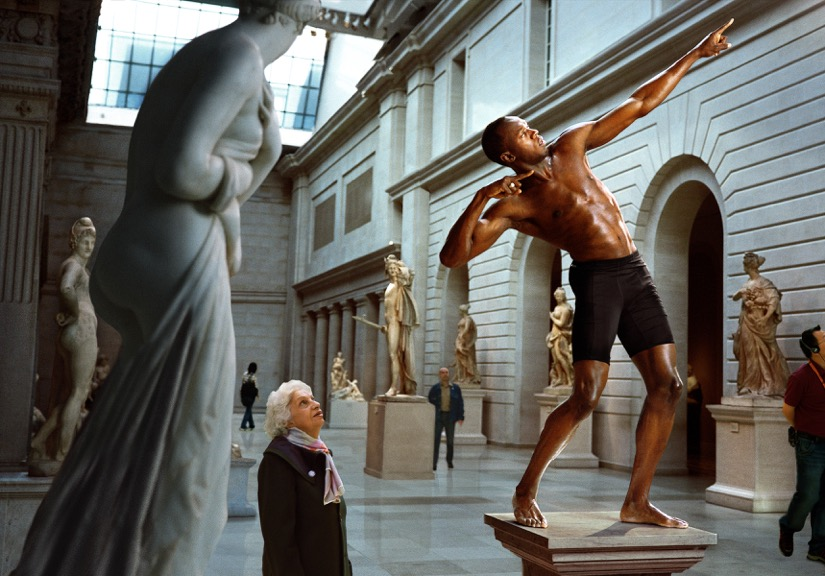 """Man as statue - Usain Bolt"" - Martin Shoeller"