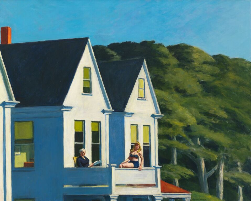 Edward Hopper (1882 1967), Cape Cod Sunset, 1934, Oil on canvas, 74x 92,1 cm Whitney Museum of American Art, New York; Josephine N. Hopper Bequest © Heirs of Josephine N. Hopper, Licensed by Whitney Museum of American Art